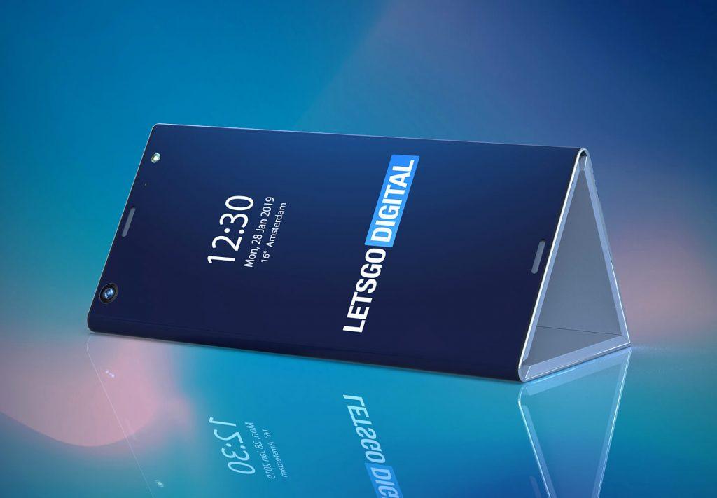 Smartphone pliable en trois Intel