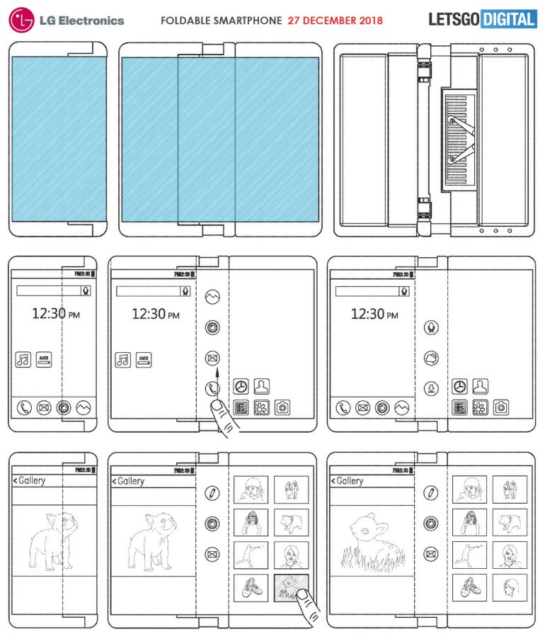 Concept de téléphone pliable par LG