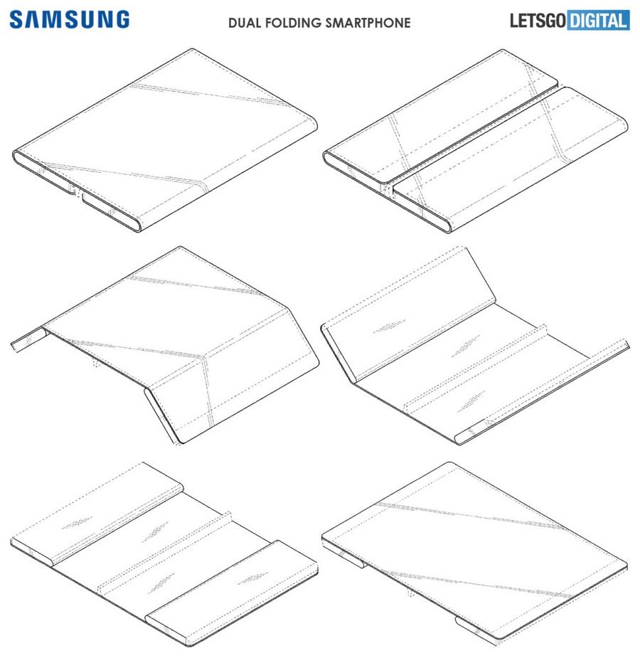 Brevet Samsung pliable en 3 parties