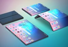 Smartphone pliable Samsung concept