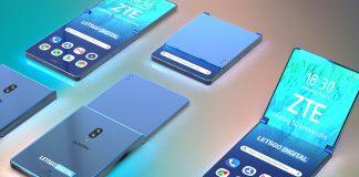 ZTE Smartphone pliable à clapet